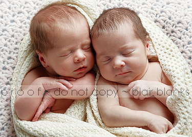 infant portrait photography twins